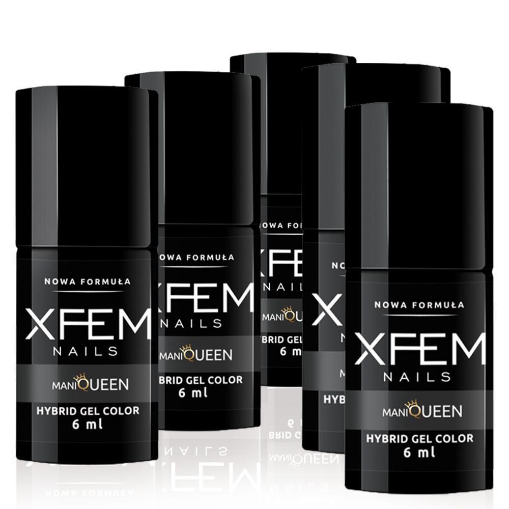 3 + 2 Lakier hybrydowy XFEM - 5 x 6ml (zestaw)